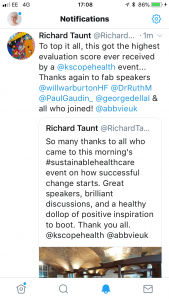 Twitter Feedback from Event Organisers at Kaleidoscope
